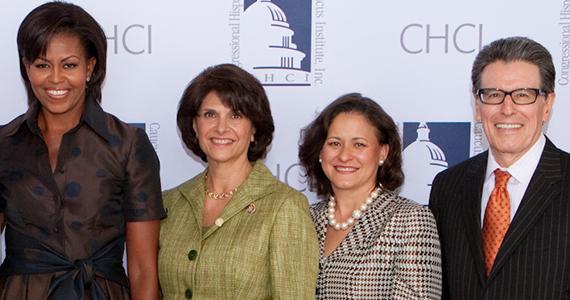 Michelle Obama and William Vega group photo