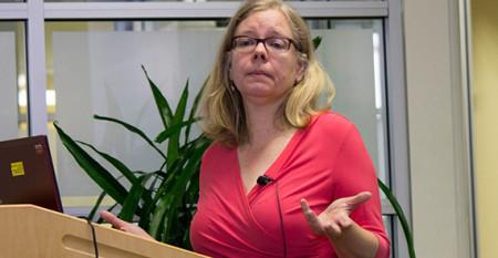 Chloe Bird speaks at USC