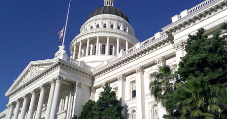 State capitol building in Sacramento, California