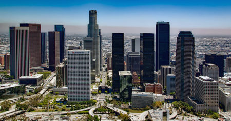 Los Angeles' downtown during the day
