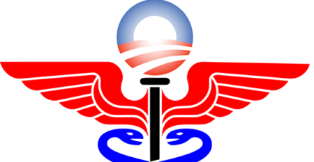Medical symbol and Obama campaign logo