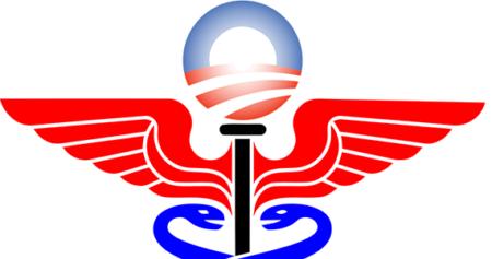Medical symbol and Obama campaign logo