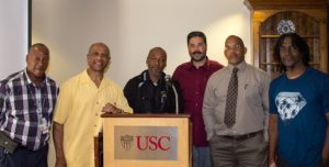 Former Gold Members at the podium at USC