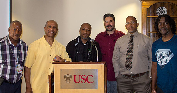 Group of Former Gold Coat members at USC