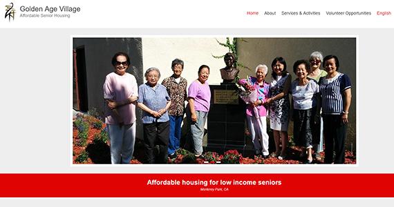 Golden Age Village website homepage