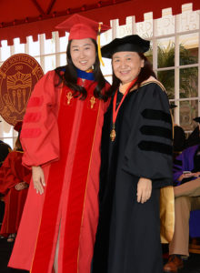 Yura Lee and Iris Chi at 2017 USC Suzanne Dworak-Peck School of Social Work Commencement