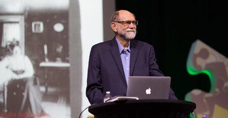 Vern Bengtson speaks at conference