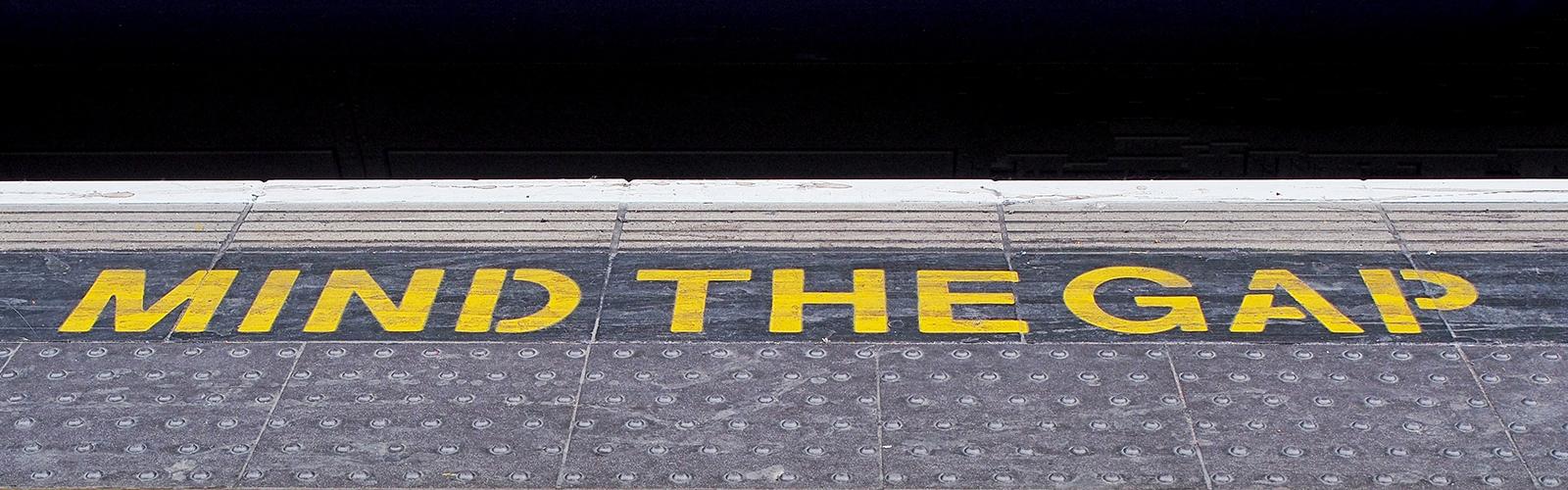 Mind the Gap subway warning
