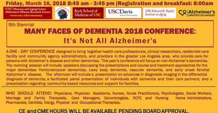 Many Faces of Dementia Flyer
