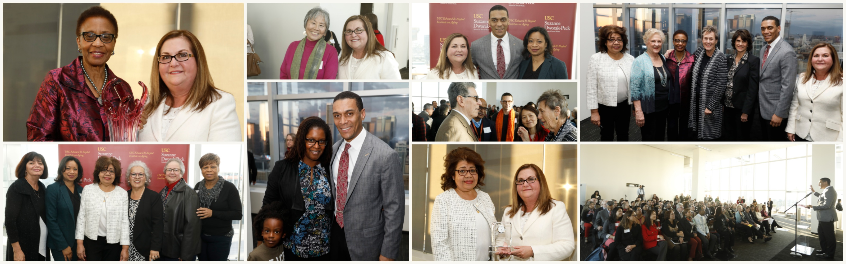 2018 USC Roybal Memorial Lecture collage of event images