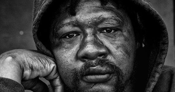 Older African American Homeless Man