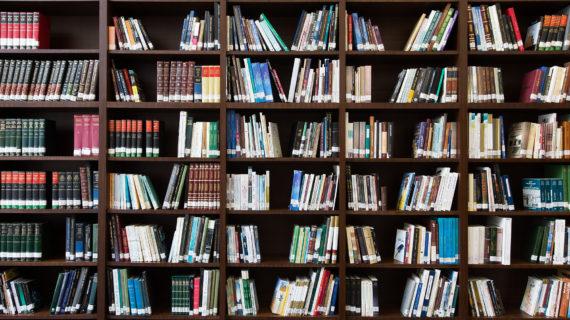 books on book shelf